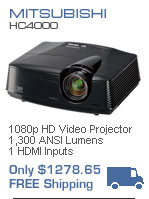 Mitsubishi HC3800 1080p Video projector