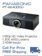 Panasonic PT-AE4000U 1080p Home Theater Video Projector